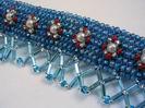 Здесь представлены несколько образцов налобных ремней украшеных бисером.  Они сделаны вручную (с изнанки...